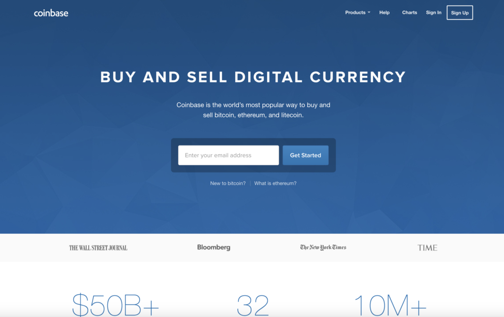 Get started in cryptocurrency by joining CoinBase