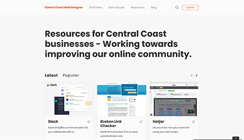 Central Coast Web Designer